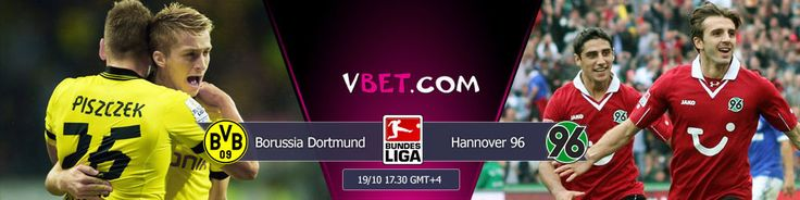 Live streaming and online betting on Bundesliga at Vbet Borussia Dortmund vs Hannover 96  19/10 at 17:30 GMT+4 Current German Bundesliga Cup holder Borussia Dortmund will host a serious rival as Hannover 96 at matchday 9.   Szabolcs Huszti is considered the best in this season. Surely, We should distinguish Marco Reus and Henrikh Mkhitaryan from BVB, who have already become leaders of Dortmund.  http://www.vbet.com/flexsport/?language=en&view=prematch#gameId=651035329