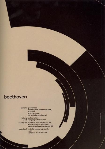 Josef Muller Brockman - Zurich Tonhalle Concert poster - 1955