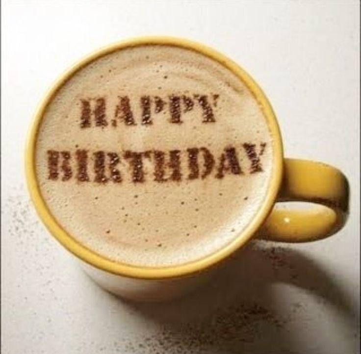 С днем рождения картинки кофе