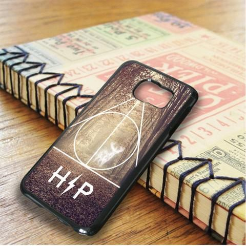Harry Potter Hipster Deathly Hallows Expecto Patronum Samsung Galaxy S6 Edge Plus Case
