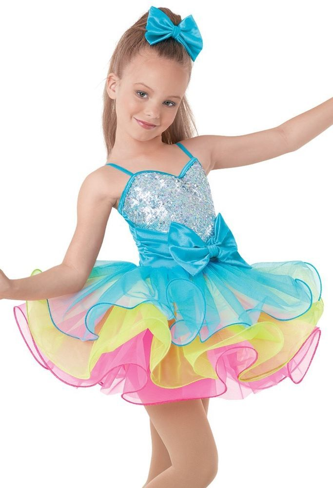 Rainbow Princess CandyMan Jazz Tap Competition Dance Costume Small Child  | eBay