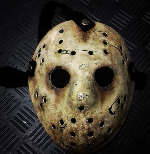Jason Maskghost Hock Never Hike Alone Prop Replicapetgfilm Etsy Mask Types Jason Voorhees Hockey Mask