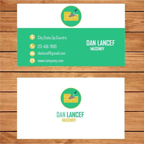 22 best business card template images on pinterest business card microsoft publisher masonry business card fbccfo Images