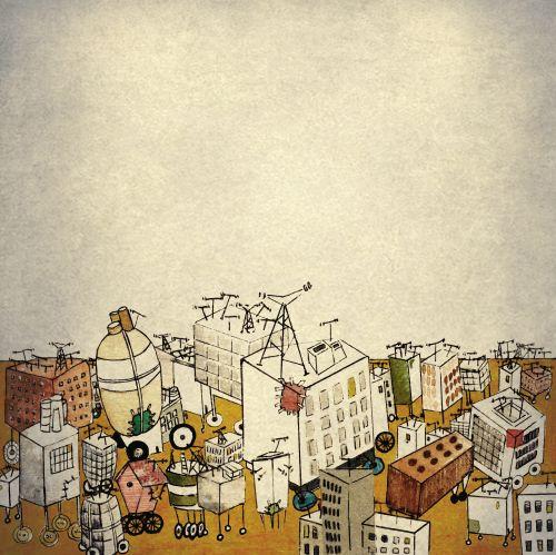 """Illustration for italian project. """"Abitacoli del tempo"""" by Eva Escoms Estarlich"""
