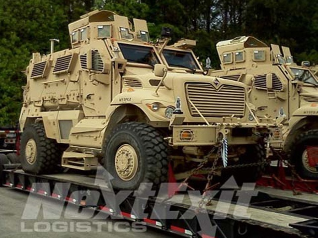 Next Exit Logistics has years of experience shipping the most sensitive military vehicles for the US government.