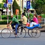 Xe loi in Bach Dang street, Chau Doc, An Giang. More details at http://www.chaudoctravel.com/2013/03/chau-doc-travel-photos-2012/