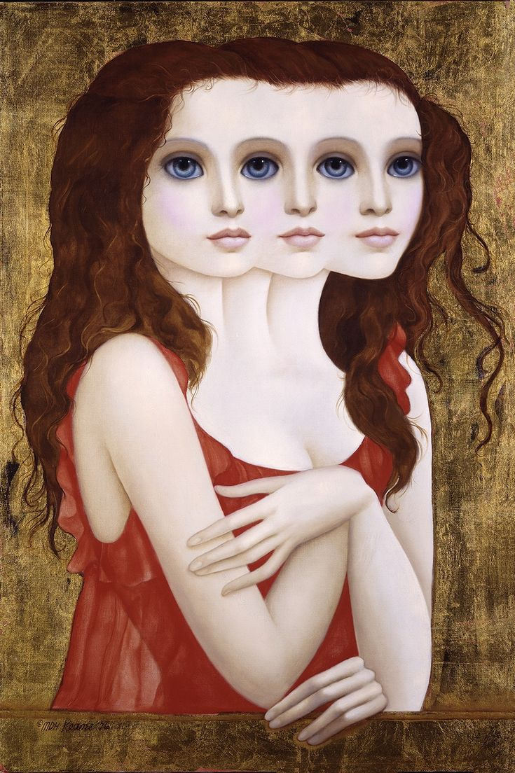 """Artist: Margaret Keane  Title: """"Complicated Lady""""  Year:  1976  Medium: Giclee On Canvas, Gold Leafed  Signed & Numbered, Limited Edition  Size: 36"""" X 24"""""""