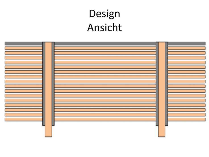 Sichtschutzzaun Holz Discount ~ Meer dan 1000 ideeën over Sichtschutzzaun op Pinterest