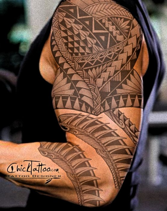 Badass Polynesian Custom Tattoo Design by ChickTattoo……get yours today!
