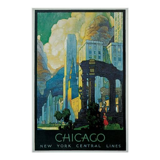 17 best images about decorating with vintage posters on for Vintage chicago posters