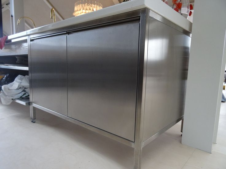 GEC Anderson stainless steel base units with integral handles.