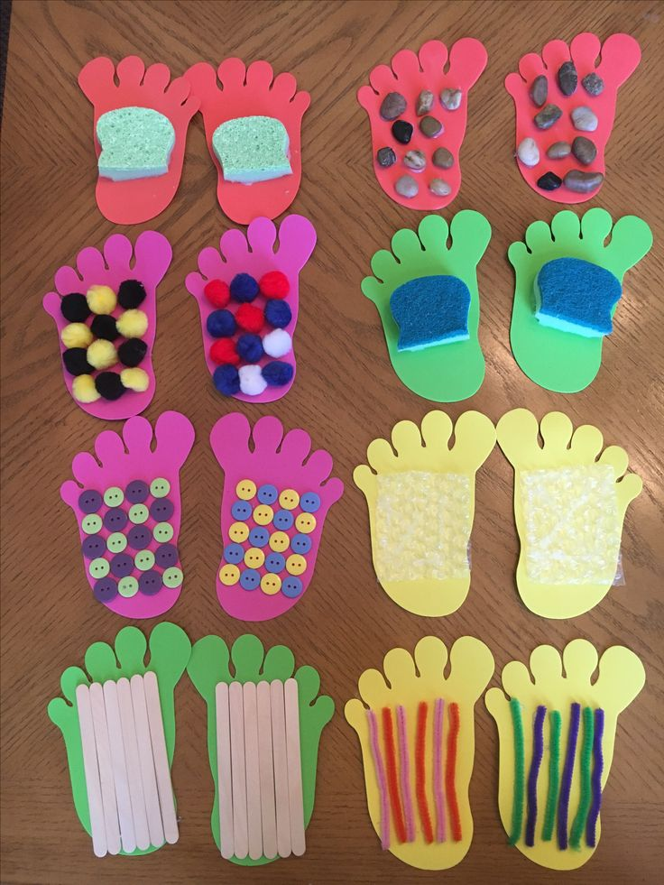 Sensory footprints for infants & toddlers.