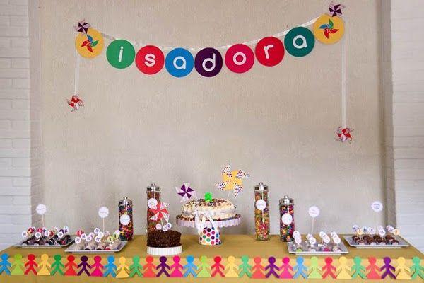 Painel Colorido Simples Sem Tema, Festa Infantil