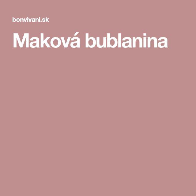 Maková bublanina