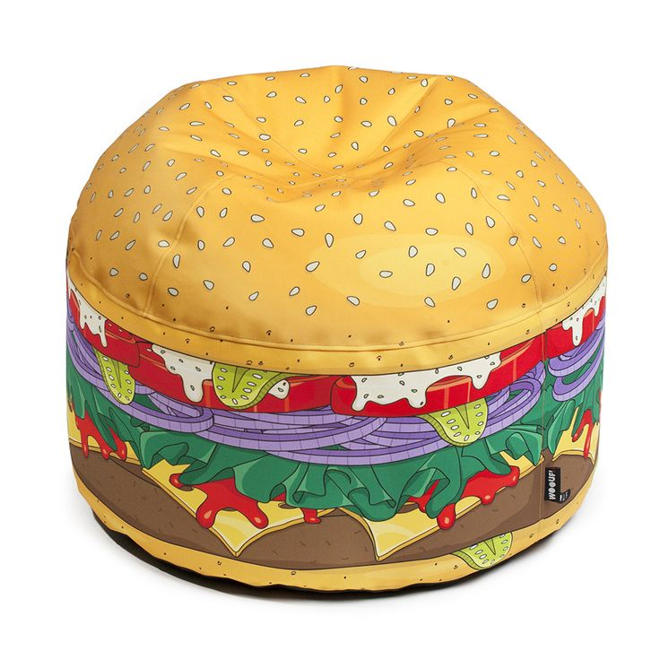 Bring kitsch style to your living space with this funky bean bag designed to look just like mini burger. Crafted from a water repellent canvas the removable cover is machine washable for easy care,...