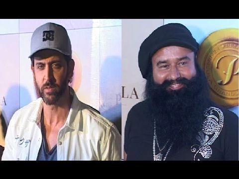 Hrithik Roshan & Gurmeet Ram Rahim Singh at Bright Awards 2017.