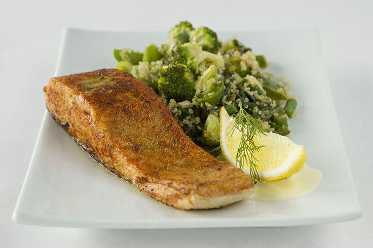 Fillet of Salmon & Quinoa CRAFT Restaurant Parkhurst