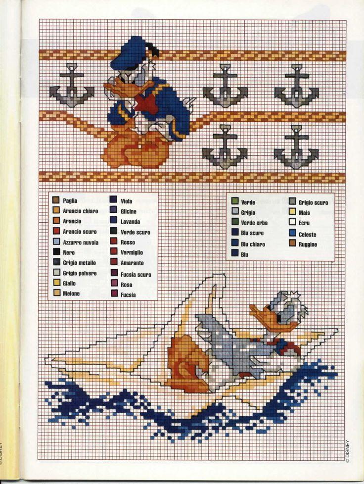 Donald Duck Nautical Border