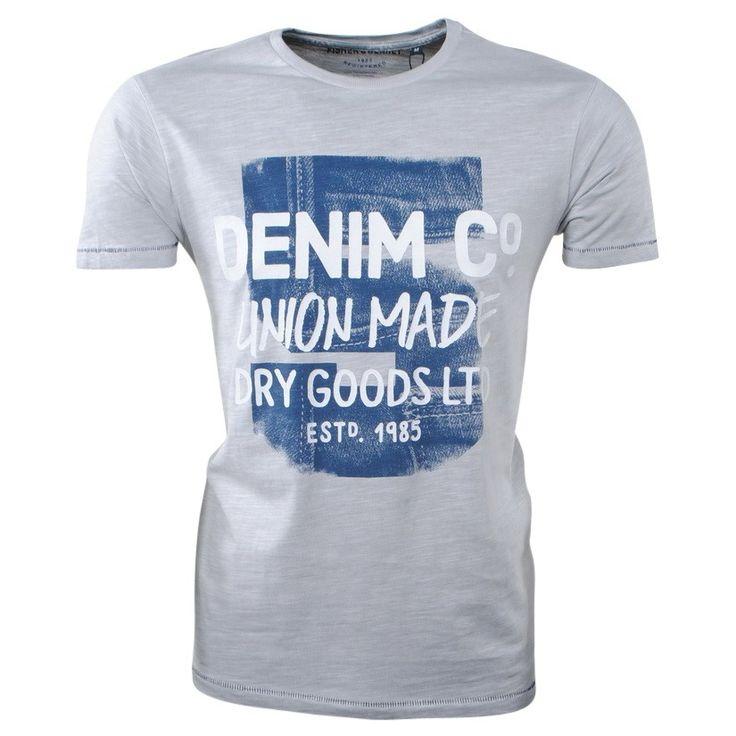 Fisher and Bennet - Trendy heren T-shirt met Korte Mouw - Grijs