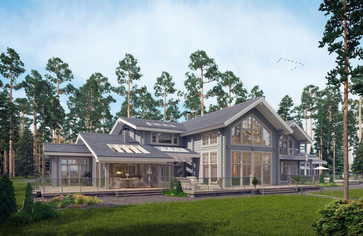 Архитектура и фасад здания, ландшафтное проектирование дома в поселке Новое Репино от студии FullHouseDesign