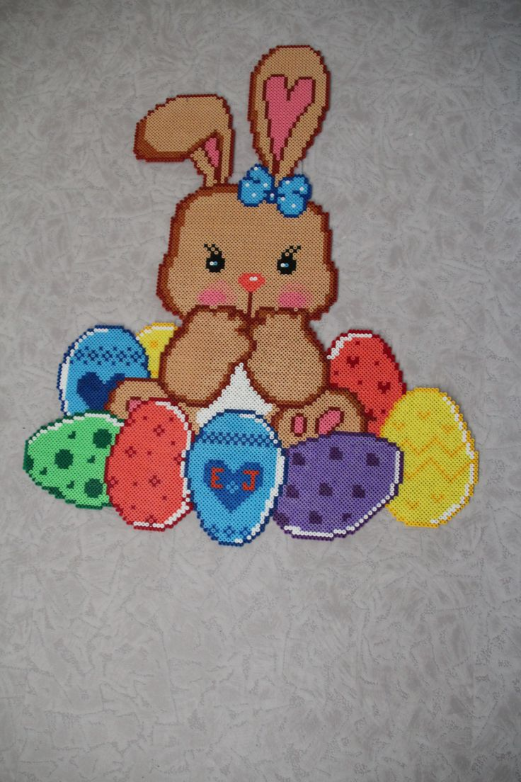 Lapin de Pâques perles Hama