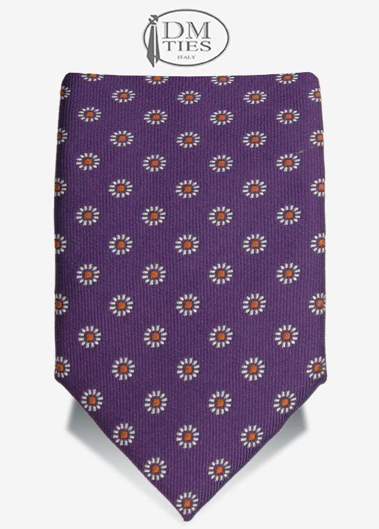 FRAGOLA - Cravatta slim seta viola - Cravatte SLIM - Cravatte