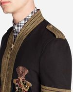 WOOL BOMBER JACKET WITH EMBROIDERY