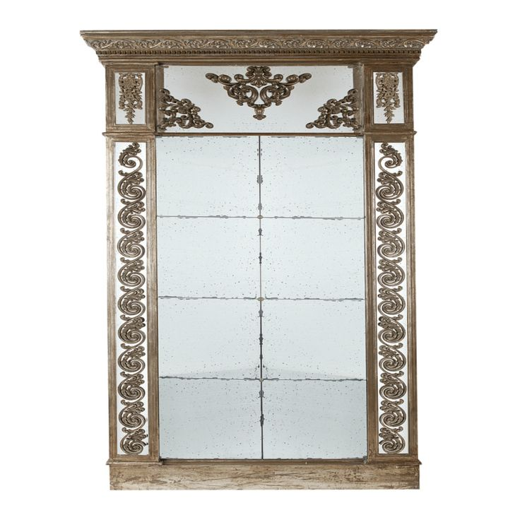 Large Entrance hall mirror with antiqued glass and detail ...