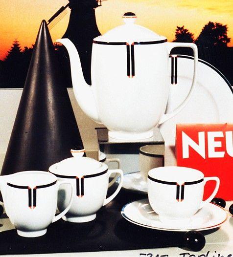 Alte Serien: Porzellan: Venice - Dekor Topline 1992-1999 produziert von Friesland Porzellan ...hol ich mir nach Hause! #vintage schwarz weiß bunt