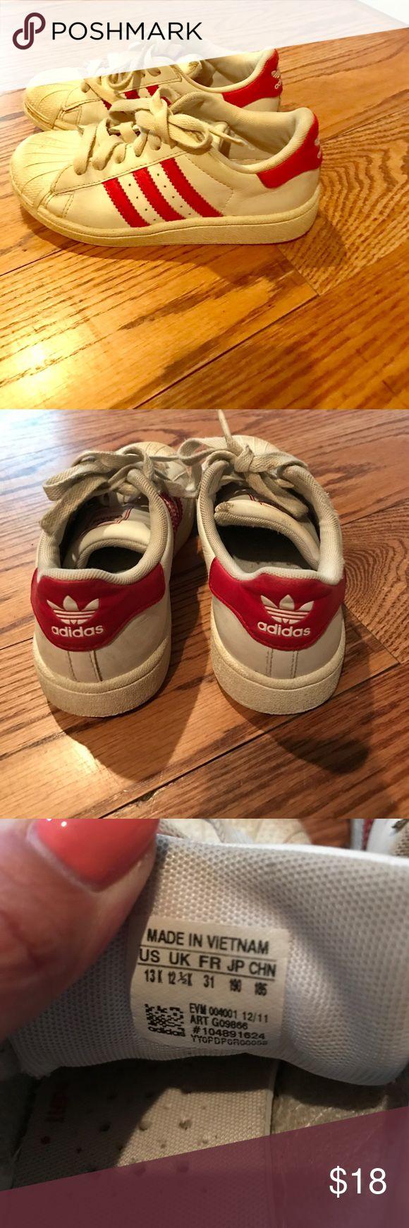 Adidas Superstar Kids rojo marron
