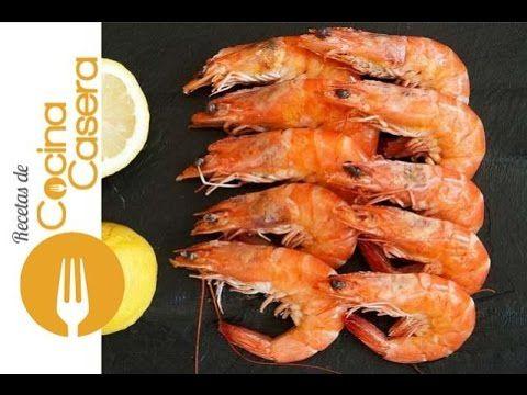 Cómo cocer langostinos (o camarones) - Recetas de Cocina Casera - Recetas fáciles y sencillas