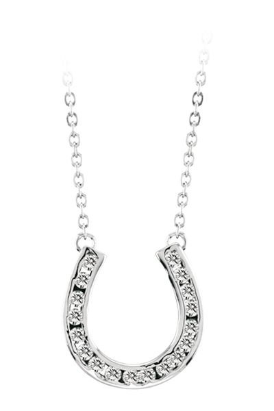 Kelly Herd Channelset Horseshoe Necklace - HeadWest Outfitters