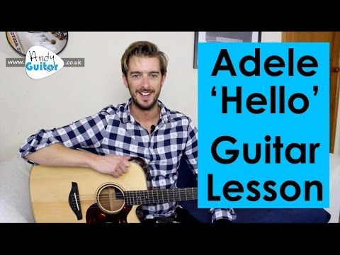 Adele - Hello Guitar Tutorial - Easy Chords! - YouTube