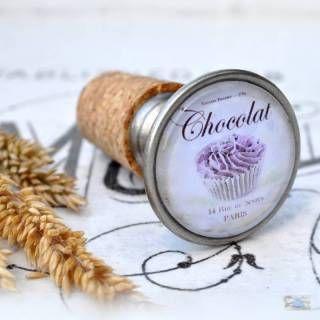 Verschönern Sie Ihre Flaschen mit diesem dekorativenFlaschenkorken Chocolat de Paris  Ihre Flaschenwerdenwundervoll damit aussehen!