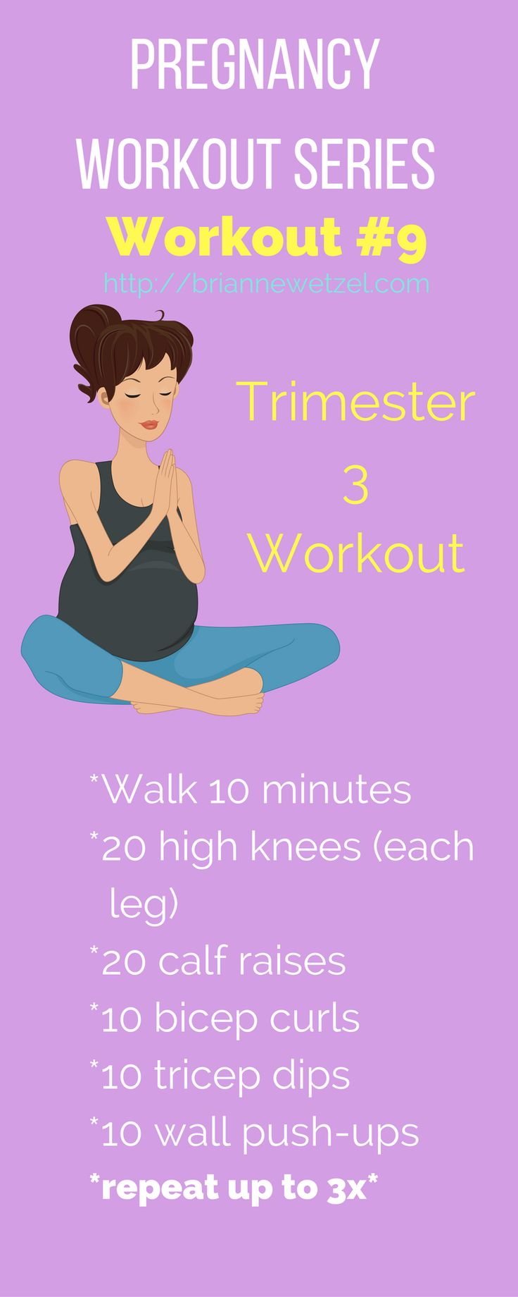 Stay active during your third trimester of pregnancy with these easy workout moves