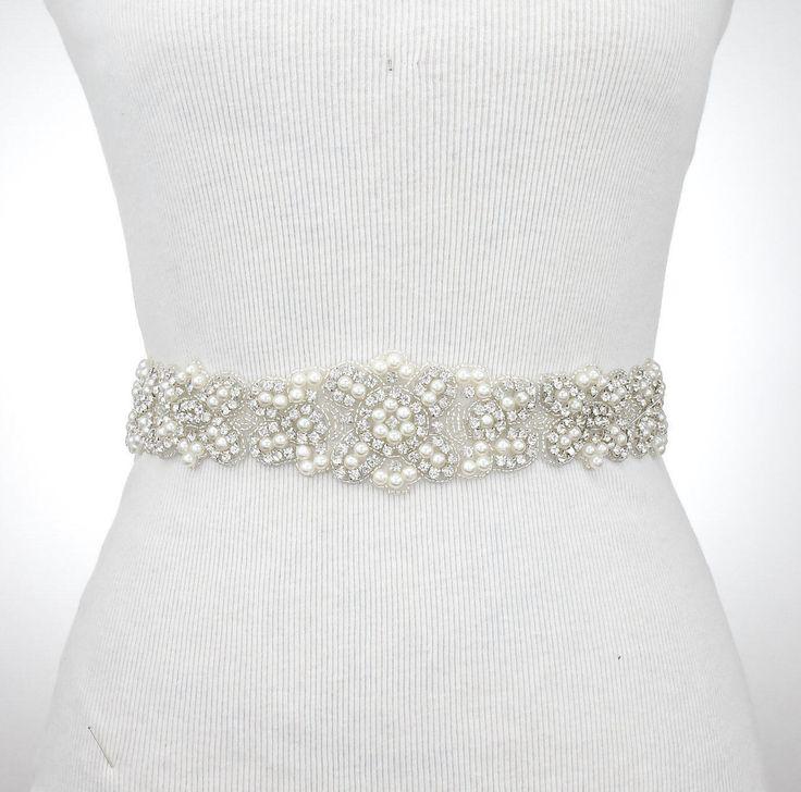Sash Belt, Crystal Rhinestone Dress Belt, Wedding Sash, Bridal Bridesmaid Flower Girl Dress Sash Belt, Pearl Sash Belt, Dress Sash 1150 by LovettsBouquet on Etsy https://www.etsy.com/listing/504115032/sash-belt-crystal-rhinestone-dress-belt