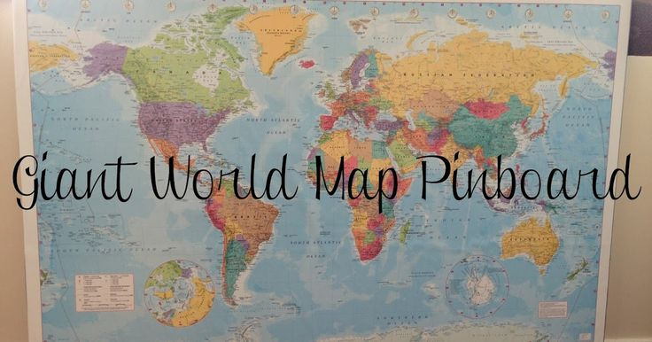How to make a giant world map pinboard from corkboard
