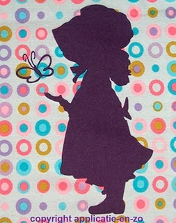 Hollie Hobbie or even as a Sunbonnet Sue, this is just too sweet.   A great paper craft to honour a little girls wall.