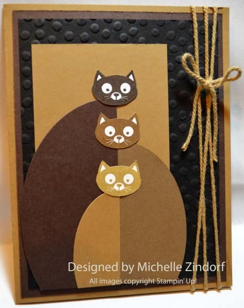 Here is a card for the feline lover in your life. This card comes together quickly and turned out so stinking cute! The details for this card along with how to get this tutorial free can be found here on my blog: http://zindorf.blogs.splitcoaststampers.com/2014/09/30/soft-kitty-warm-kitty-stampin-up-card/
