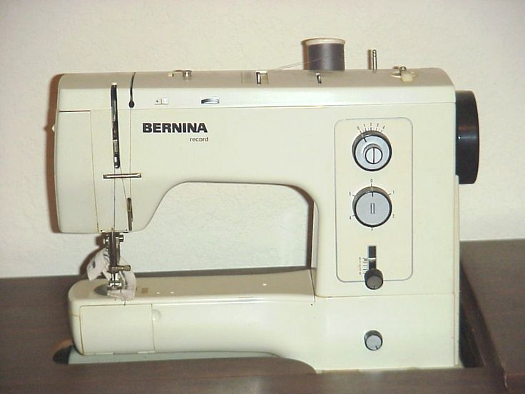 """And this one is the Bernina Record. She must have purchased hers in the mid 1970s. It's still going strong after more than 40 years. Based on what other say, it's still a coveted model. She sewed hundreds of costumes for the """"Small World Entertainers"""" on this thing. She'd turn on the TV and sew all day long."""
