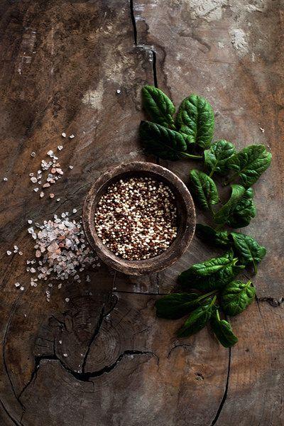 Quinoa, Spinach and Salt