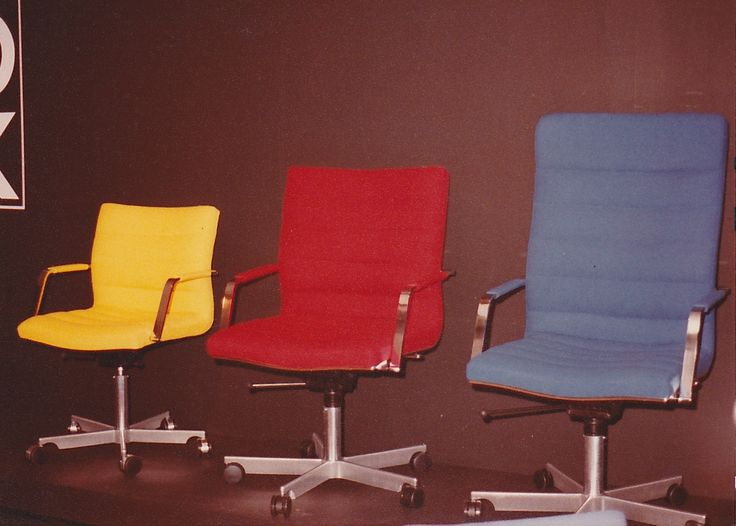 Beau Office Chairs In Bright Colours   Anno 1984
