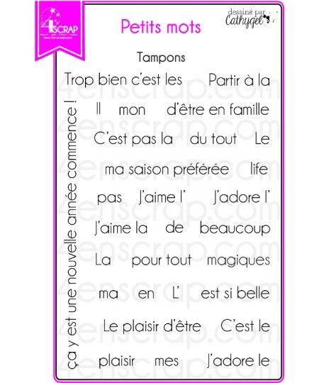 """Le set de tampons """"Petits mots"""" #4enscrap"""