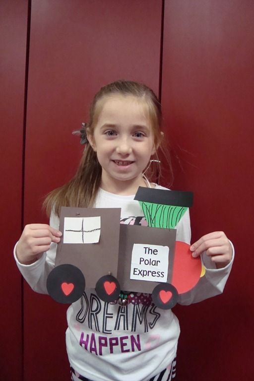 polar express idea using squares, circles and  triangle
