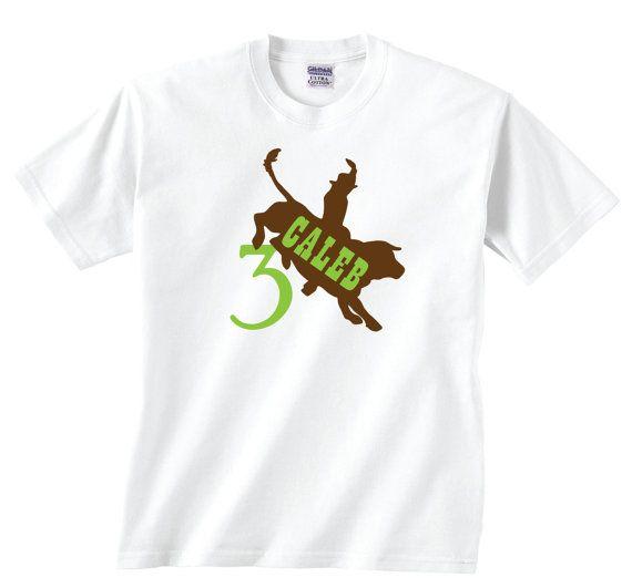 Birthday Bull Riding Shirt, Customizable Cowboy Tshirt, Custom Bull Shirt, Rodeo Birthday