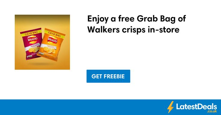 Enjoy a free Grab Bag of Walkers crisps in-store for o2 priority customers