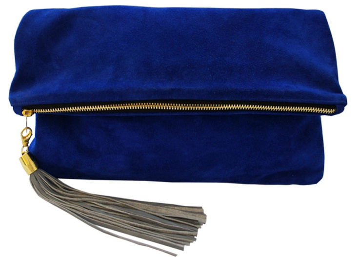 Blair RitcheyBlue Velvet, Travel Bags, Blair Ritchey, Cobalt Clutches, Lulu Foldover, Suede Clutches, Suede Bags, Blue Suede, Foldover Clutches