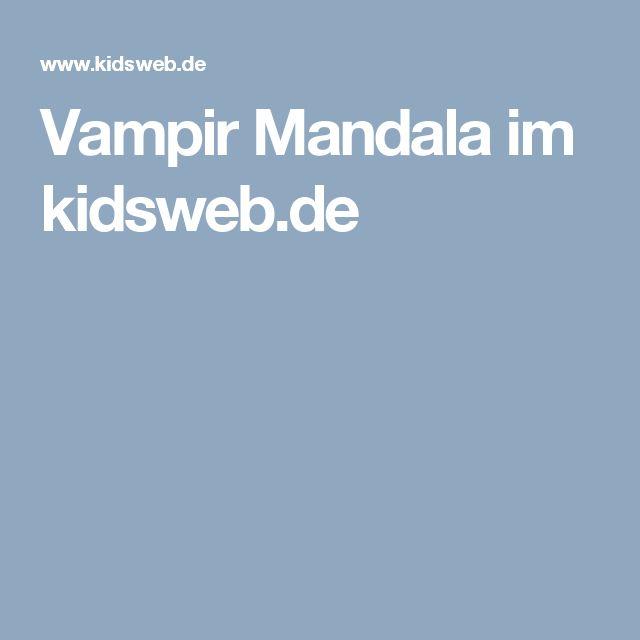 Vampir Mandala im kidsweb.de