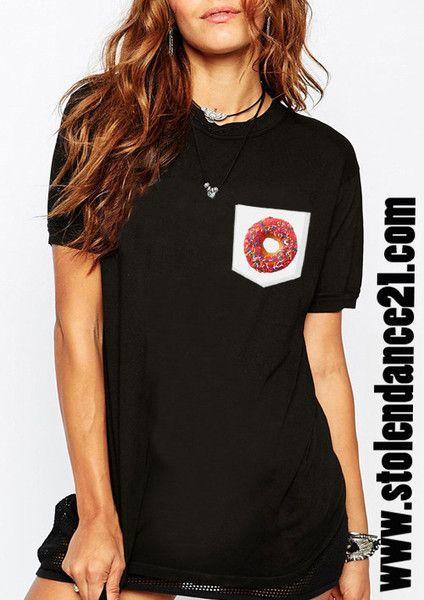 Donut Real Pocket Tee Crew Neck Top T shirt code50866