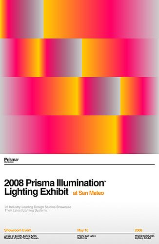 2008 Prisma Illumination Lighting Exhibit Poster: by network osaka